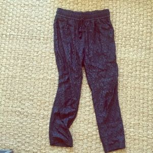Calypso St. Barth Navy Lace Drawstring Pants - S